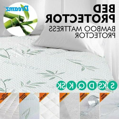 bamboo terry cotton mattress cover fitted bed