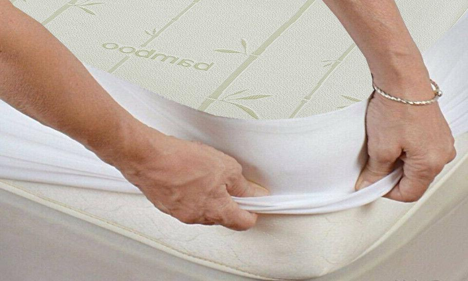 bamboo waterproof mattress protector soft antibacterial hypo