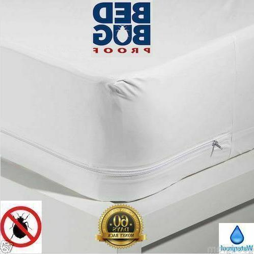 Waterproof Zippered Mattress Protector Bed Bugs Dust Mites C