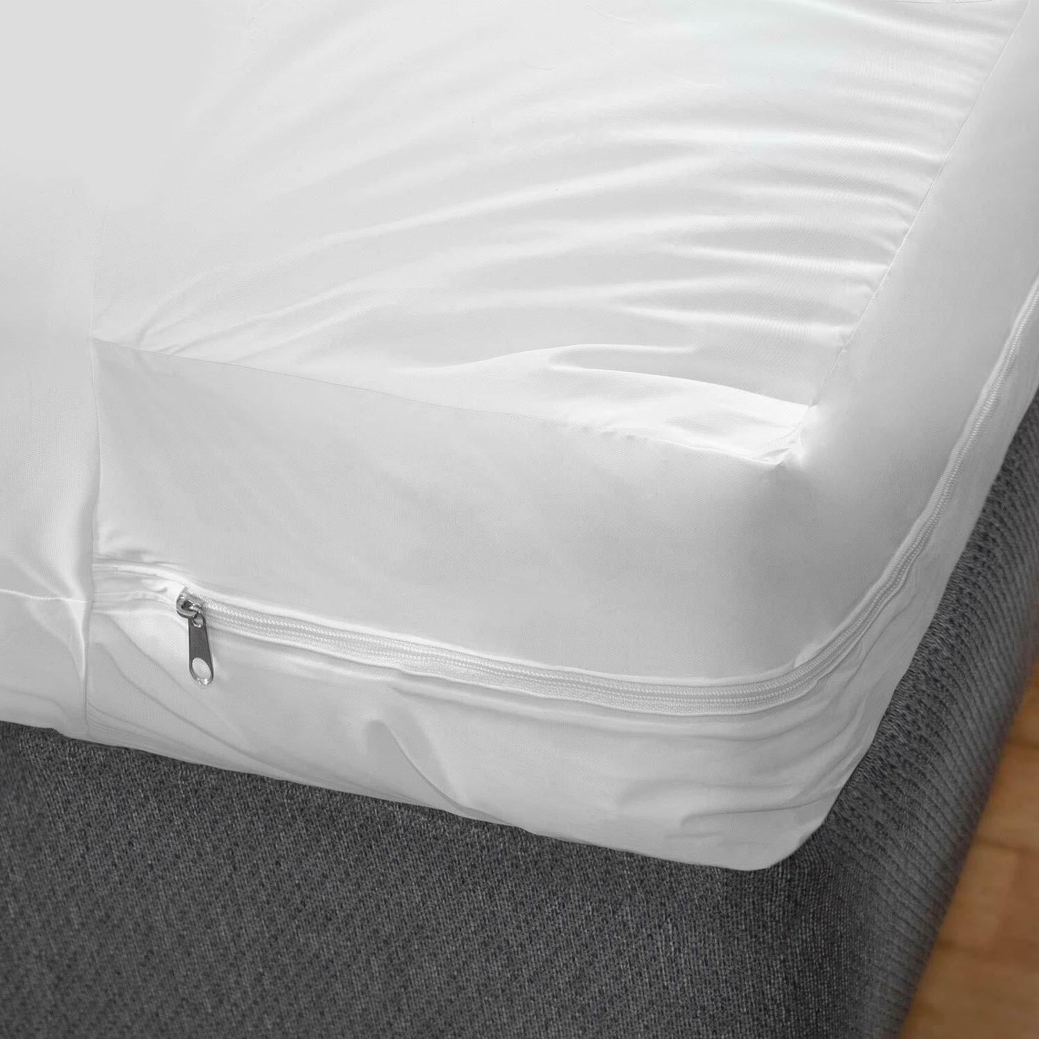 Bed Cover Twin Size Fitted Sheet Zippered Plastic