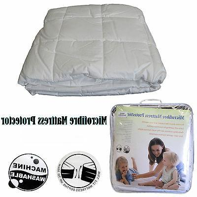 CLEARANCE Quality Cotton Cover Microfiber Mattress Protector