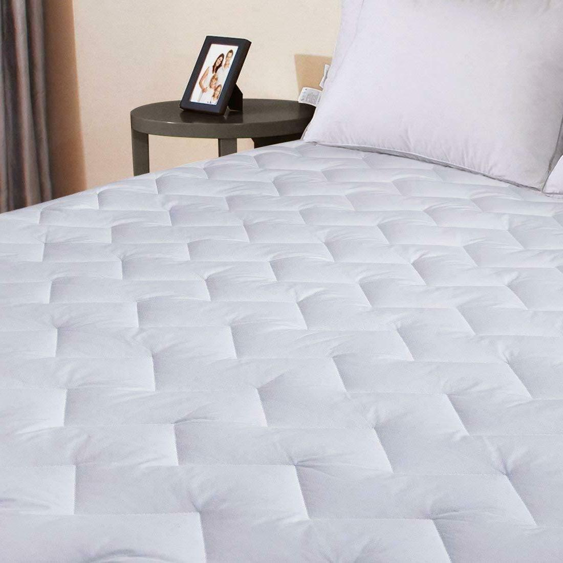 Cotton Topper Protector Quilted Fitted King Queen Full