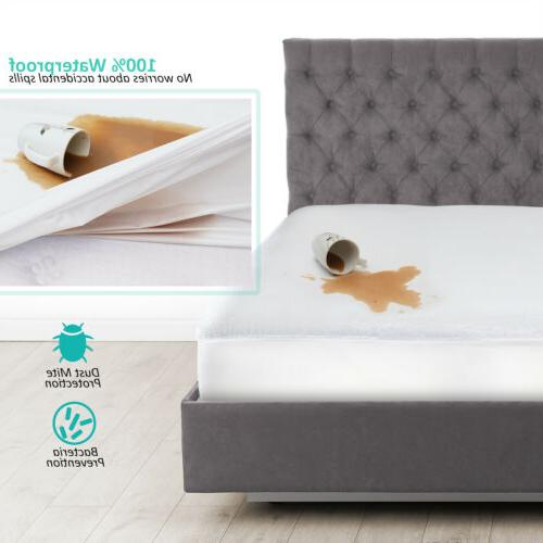 cotton terry hypoallergenic mattress protector 100 percent