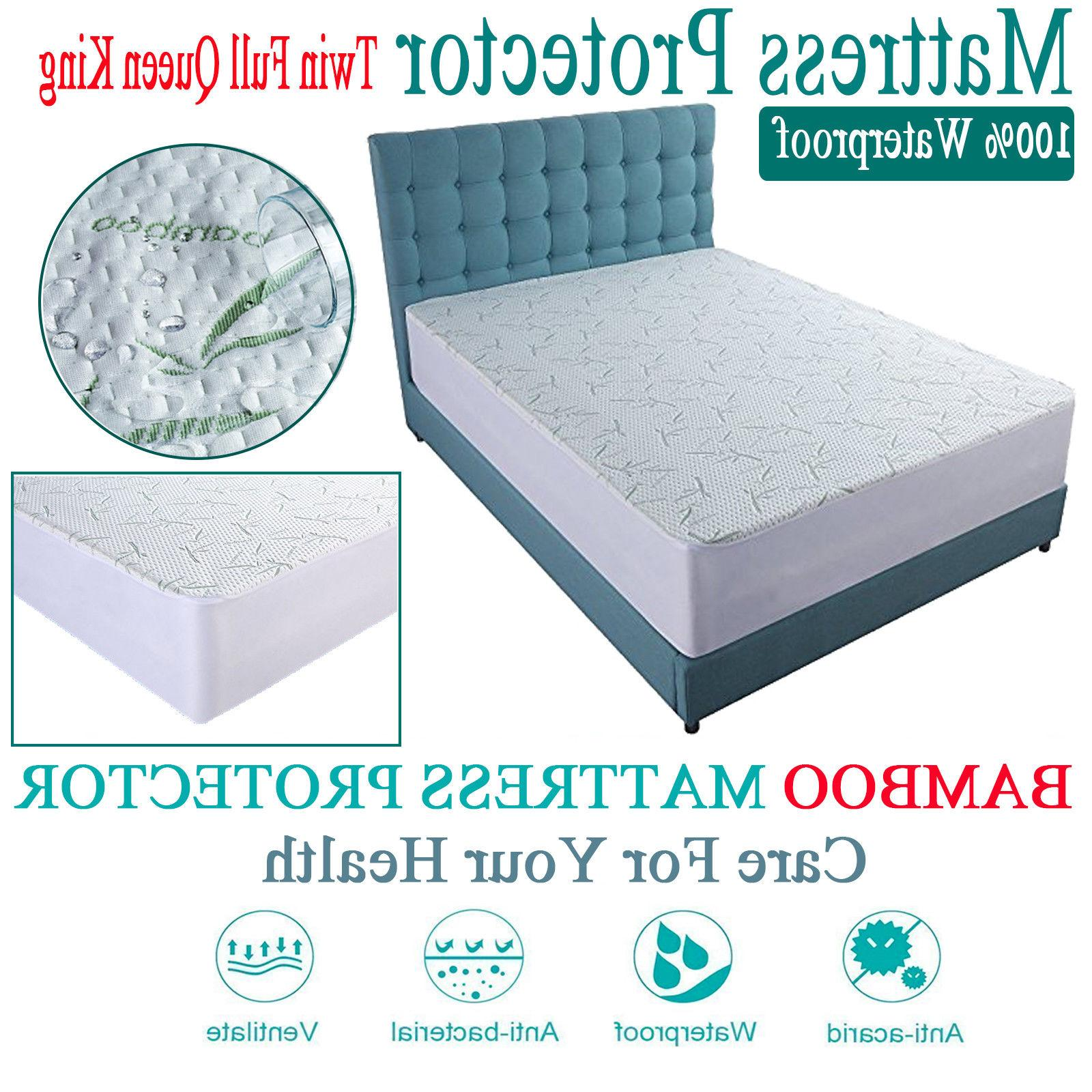 Bamboo Cotton Cover Protector Queen King Hypoallergenic