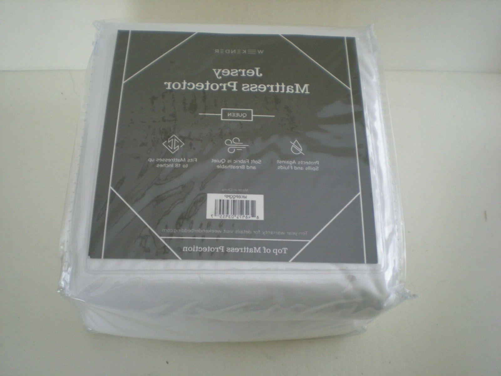 fitted jersey mattress protector choose size