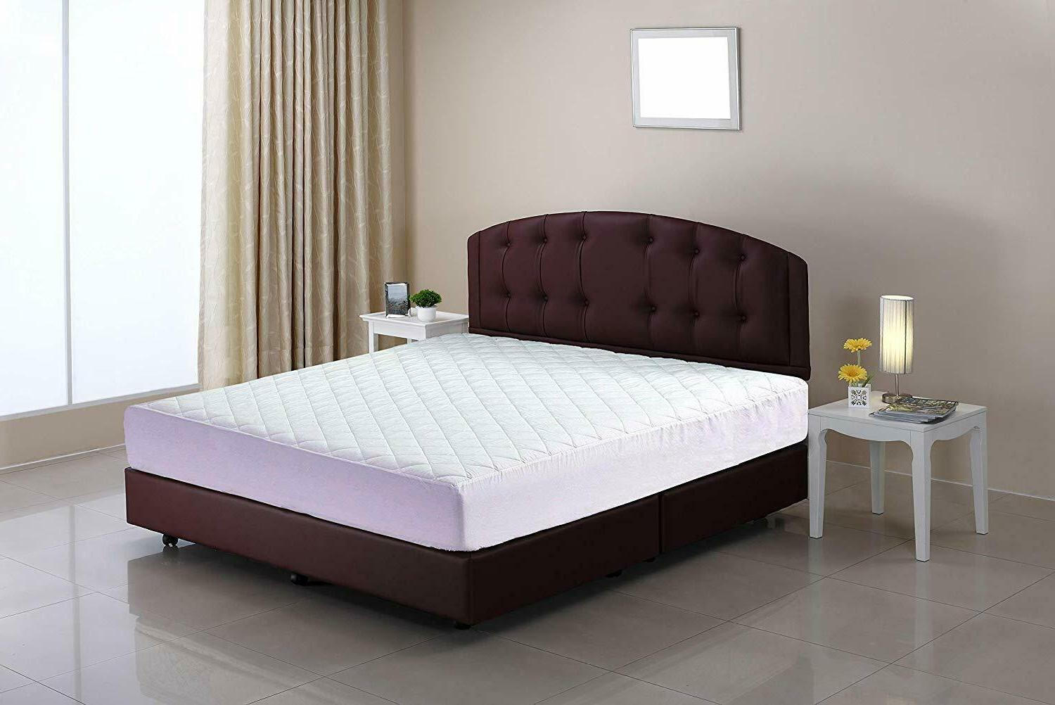 """Fitted Mattress Pad Cover Up To 16"""" All Sizes"""