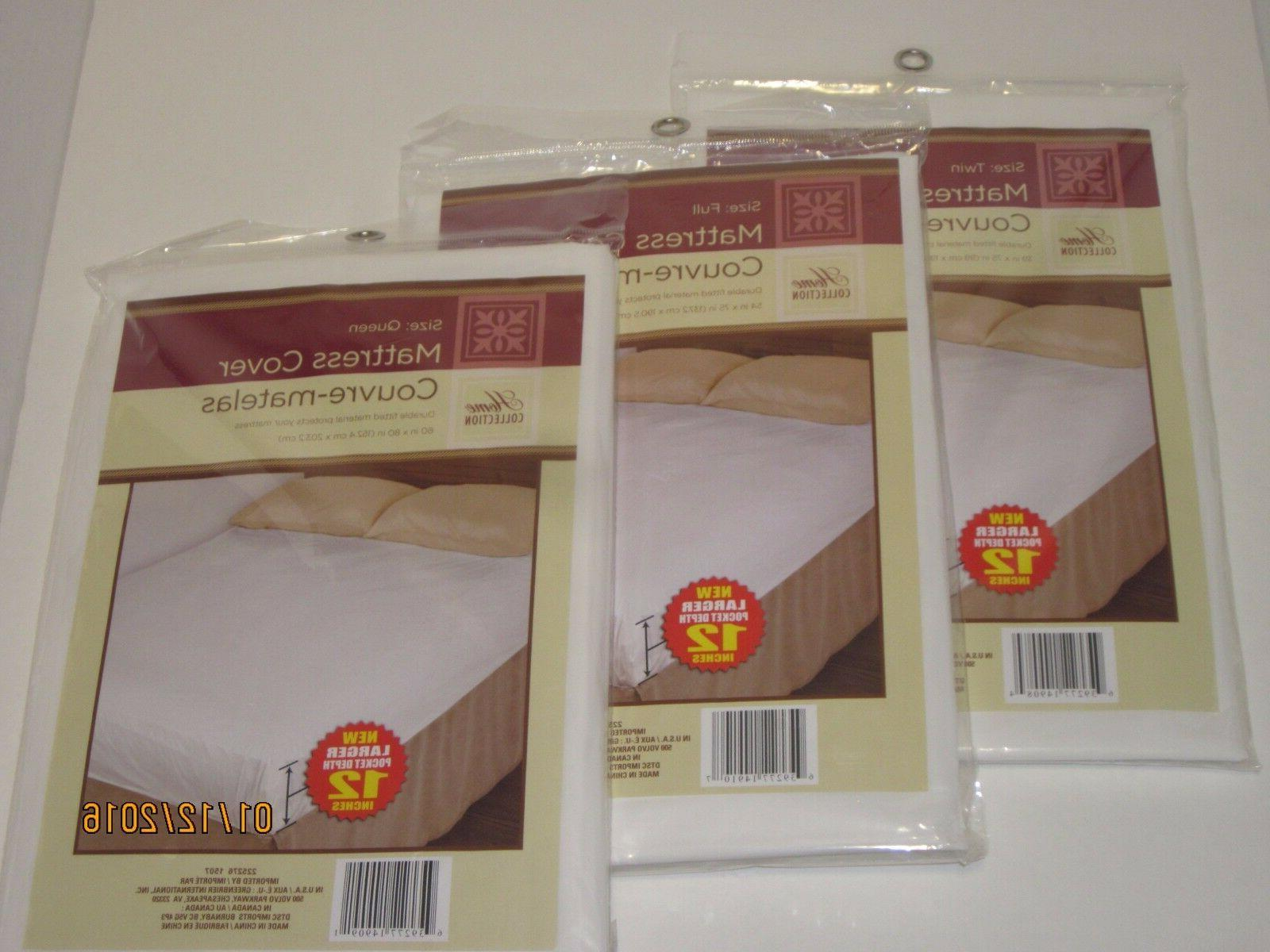 Fitted Plastic Mattress Protector - Lightweight Bed Wetting Protection