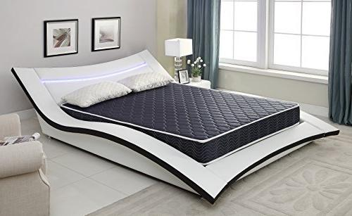 6 Foam Mattress With Navy Blue Waterproof C