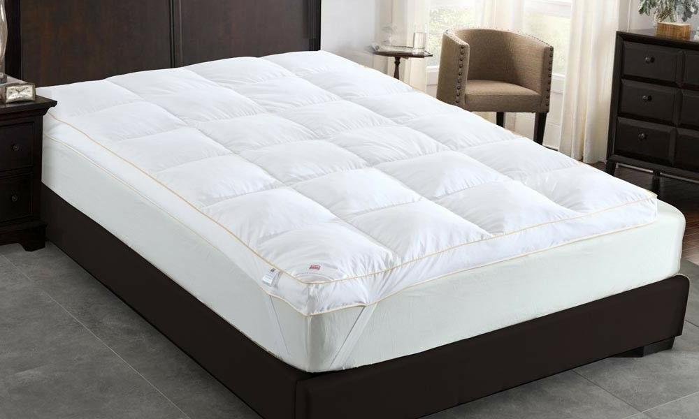 Goose Feather Topper Luxury 9cm Bed Protector Hotel Gold