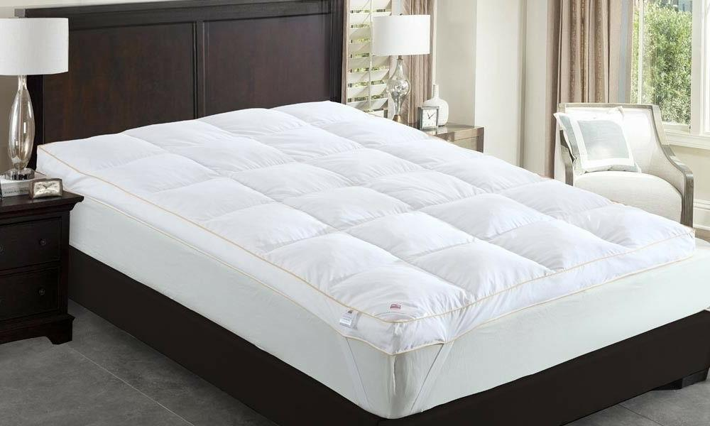 Goose Feather Down Mattress Topper Luxury Bed