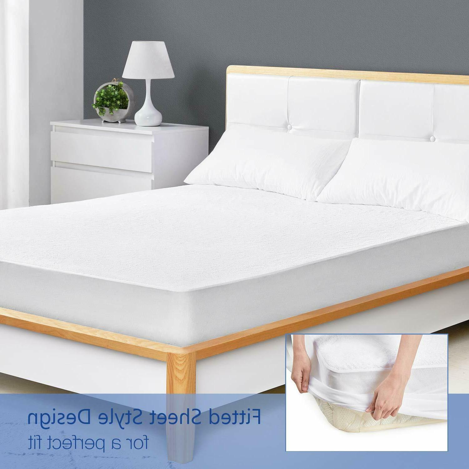 Mattress Waterproof Pad Twin/Full/Queen/King Cover Free