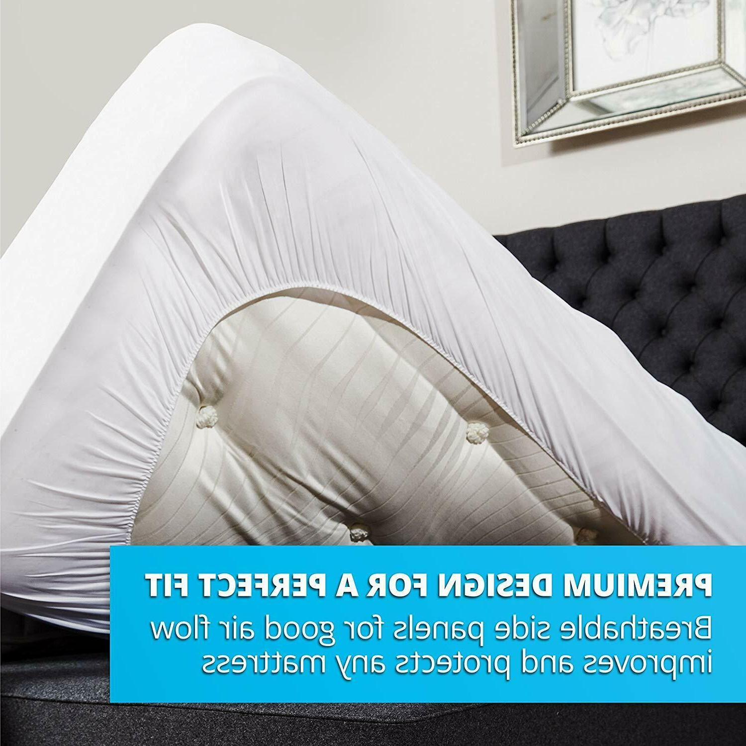 Mattress Cover Protector Waterproof Pad King Size Bed Cover