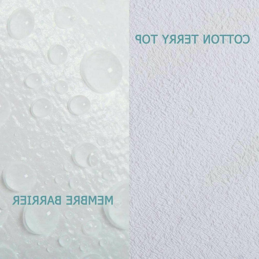 Mattress Cover Protector Pad Size Hypoallergenic Vinyl