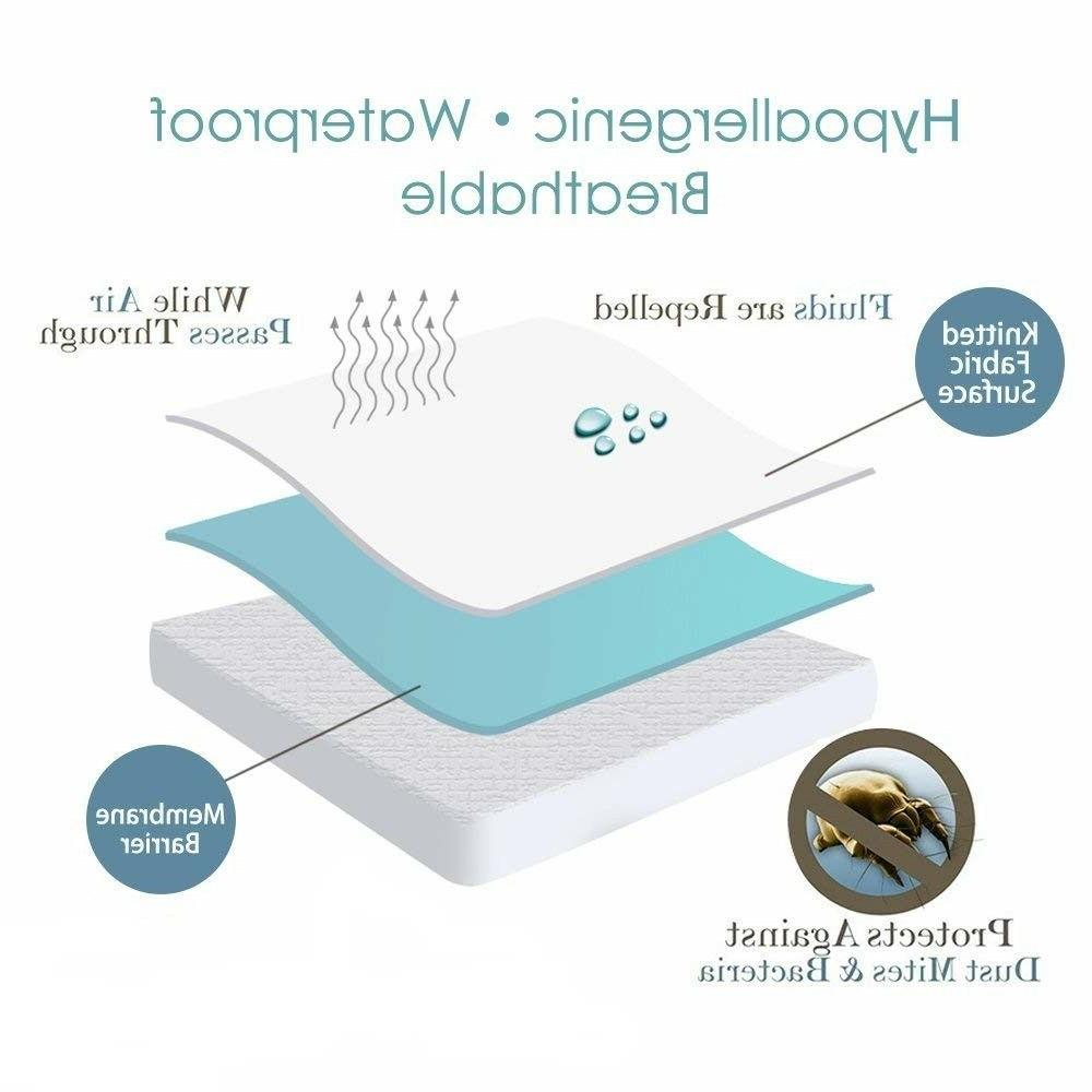 Mattress Cover Protector Waterproof Pad Hypoallergenic Free