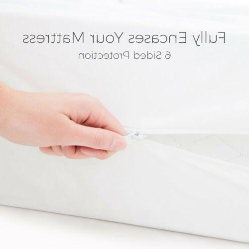 Mattress Cover Pad Zipper Bed Cover SIZE