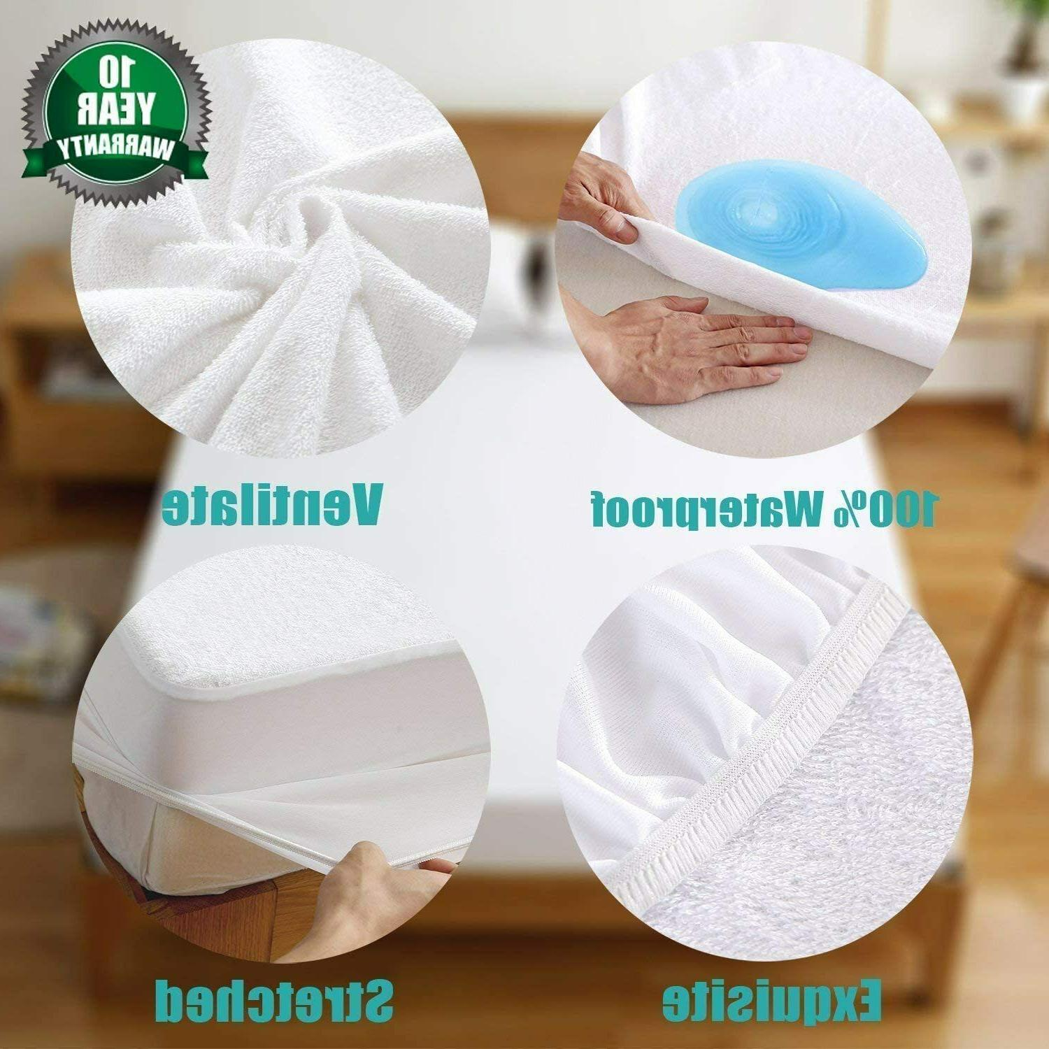 Mattress Protector Waterproof Queen Hypoallergenic Vinyl