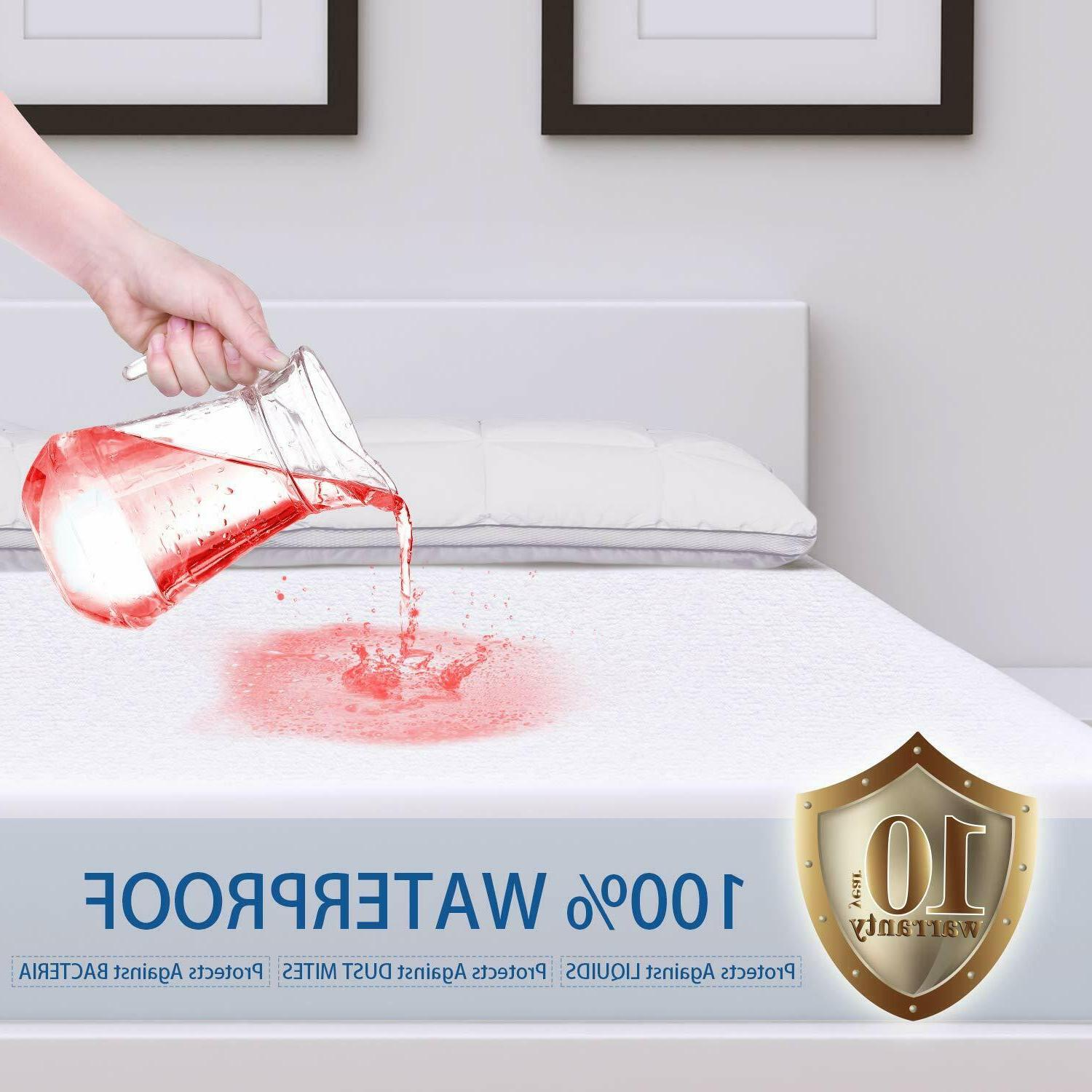 mattress cover protector waterproof queen size bed