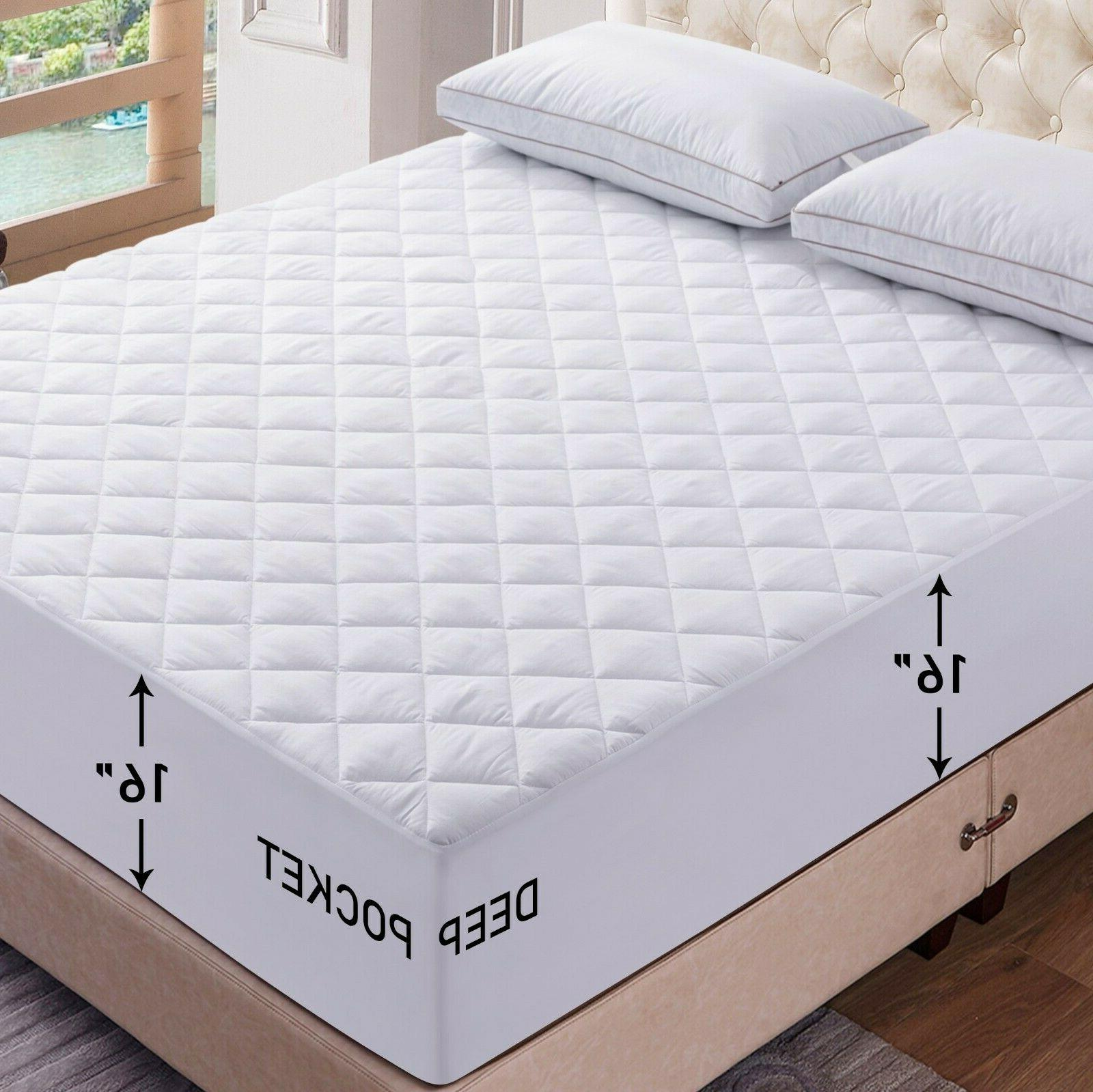 mattress pad deep pocket cooling breathable topper
