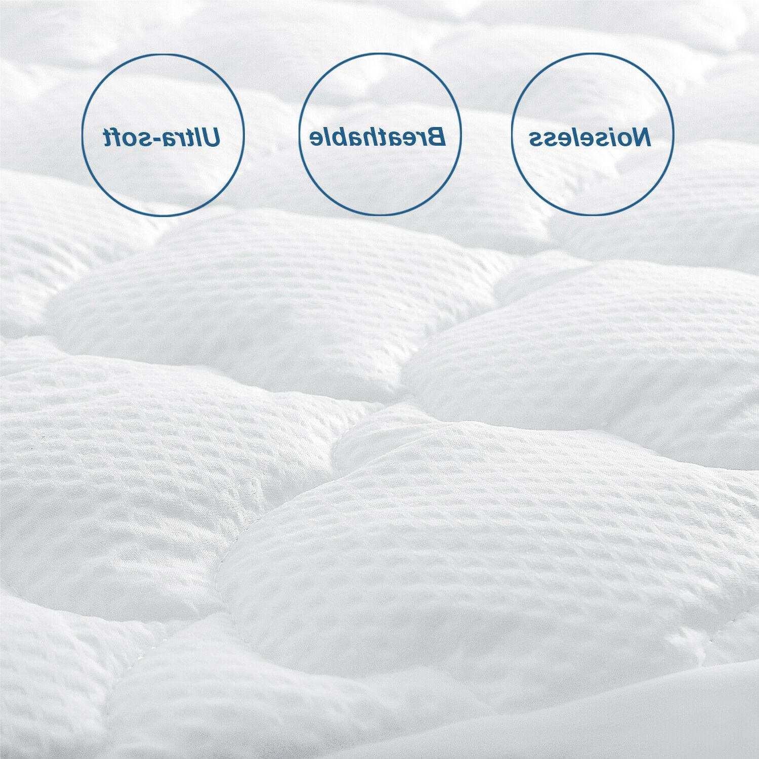 Mattress Protector Quilted Topper Cover with Deep All Sizes