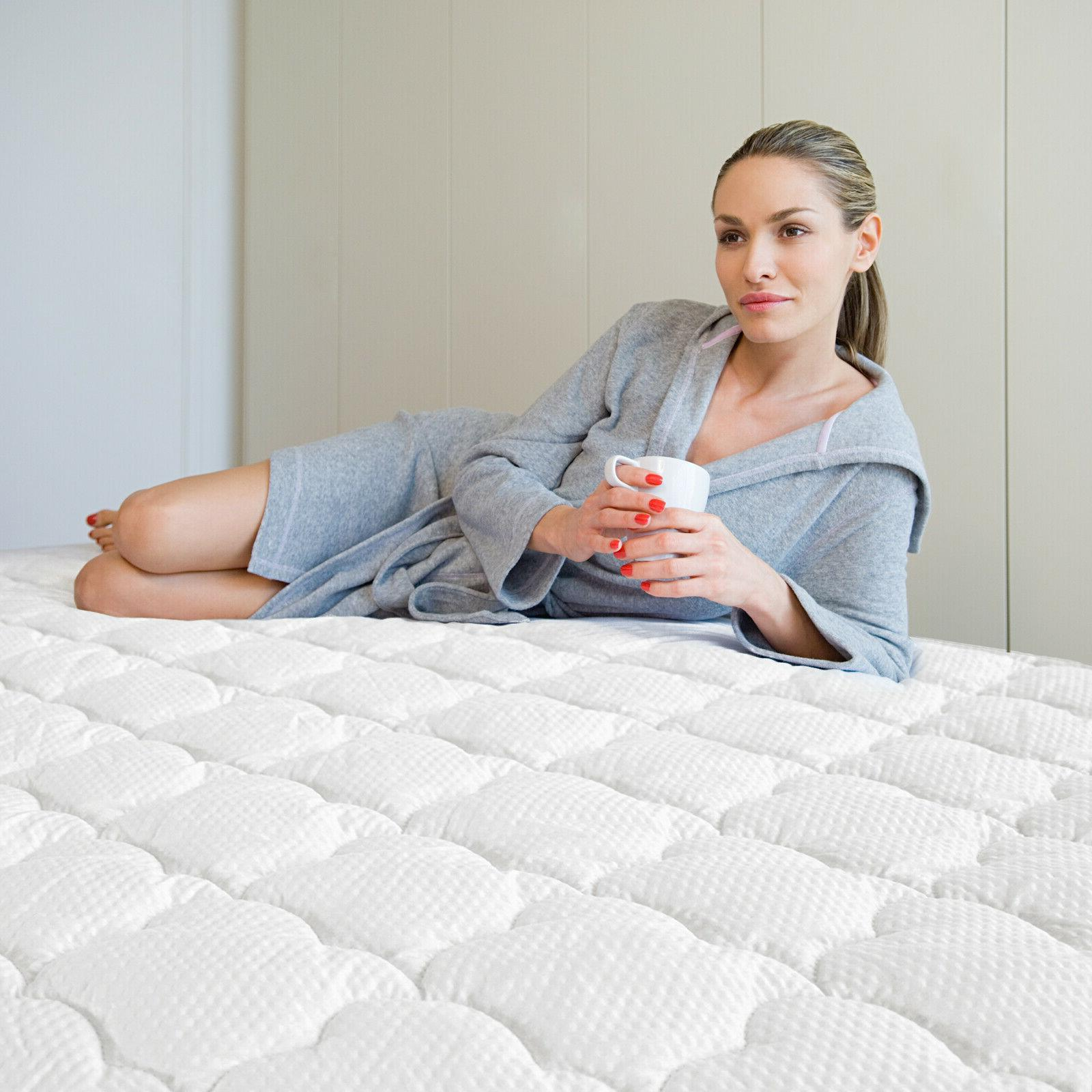 mattress pad thick quilted topper cover