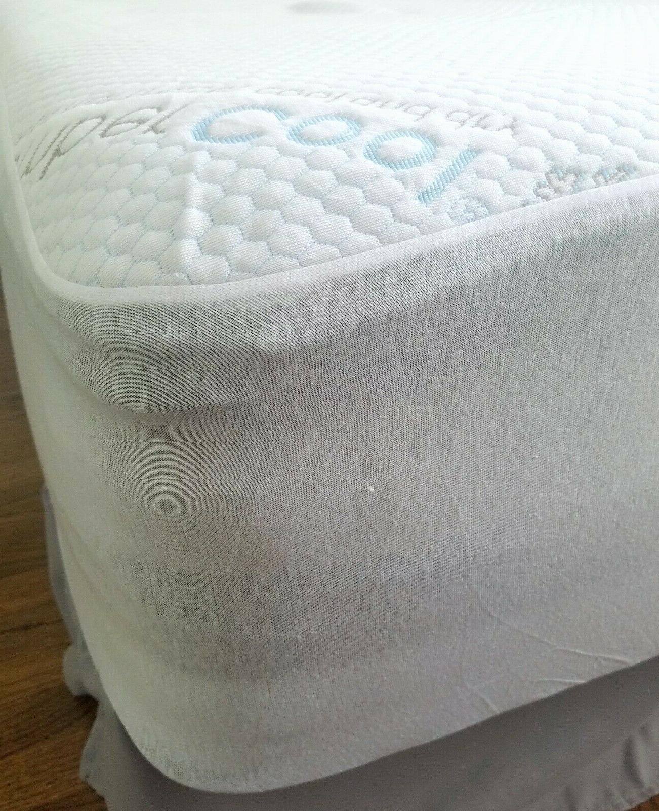 """Slumbercool Mattress Protector Breathable Cooling 10-15"""""""