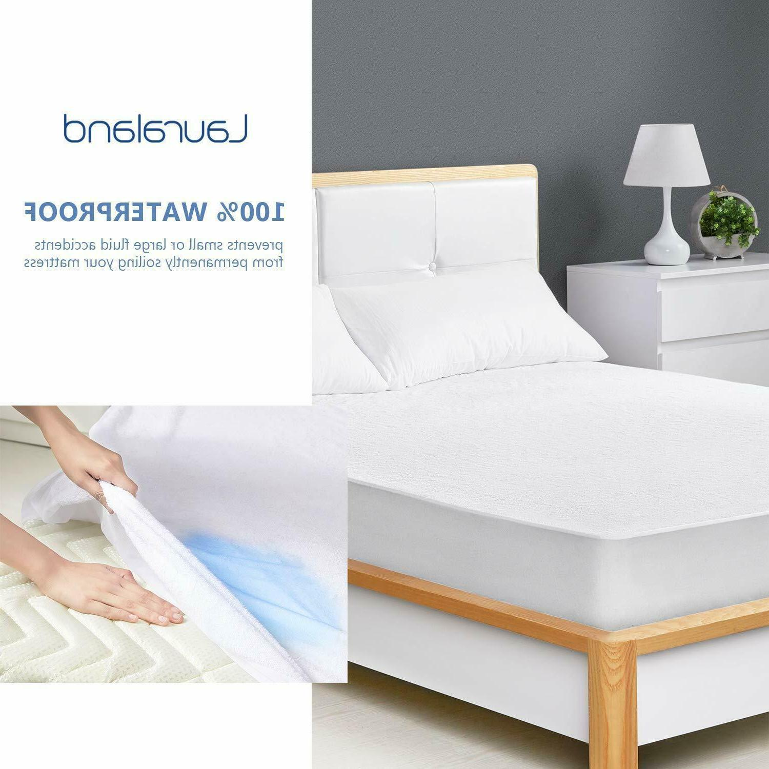 Mattress Cover Waterproof Pad Twin/Full/Queen/King Size Cover Free