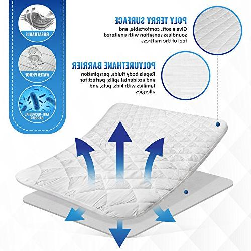 UberSoft Pad Bed: Cover is Waterproof Hypoallergenic with Pockets