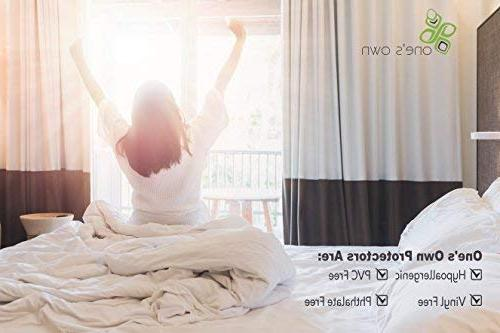 One's Own Mattress Protector, Renewable Fiber Top, Biodegradable TPU Hypoallergenic, Five-Sided, White,