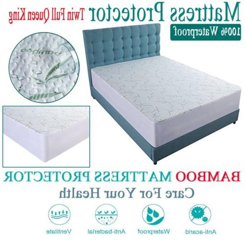 Mattress Protector Waterproof Soft Fitted Cover