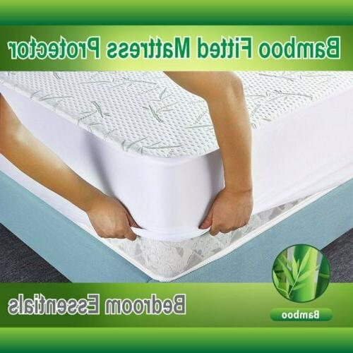 Utopia Bedding Waterproof Bamboo Mattress Protector fitted M