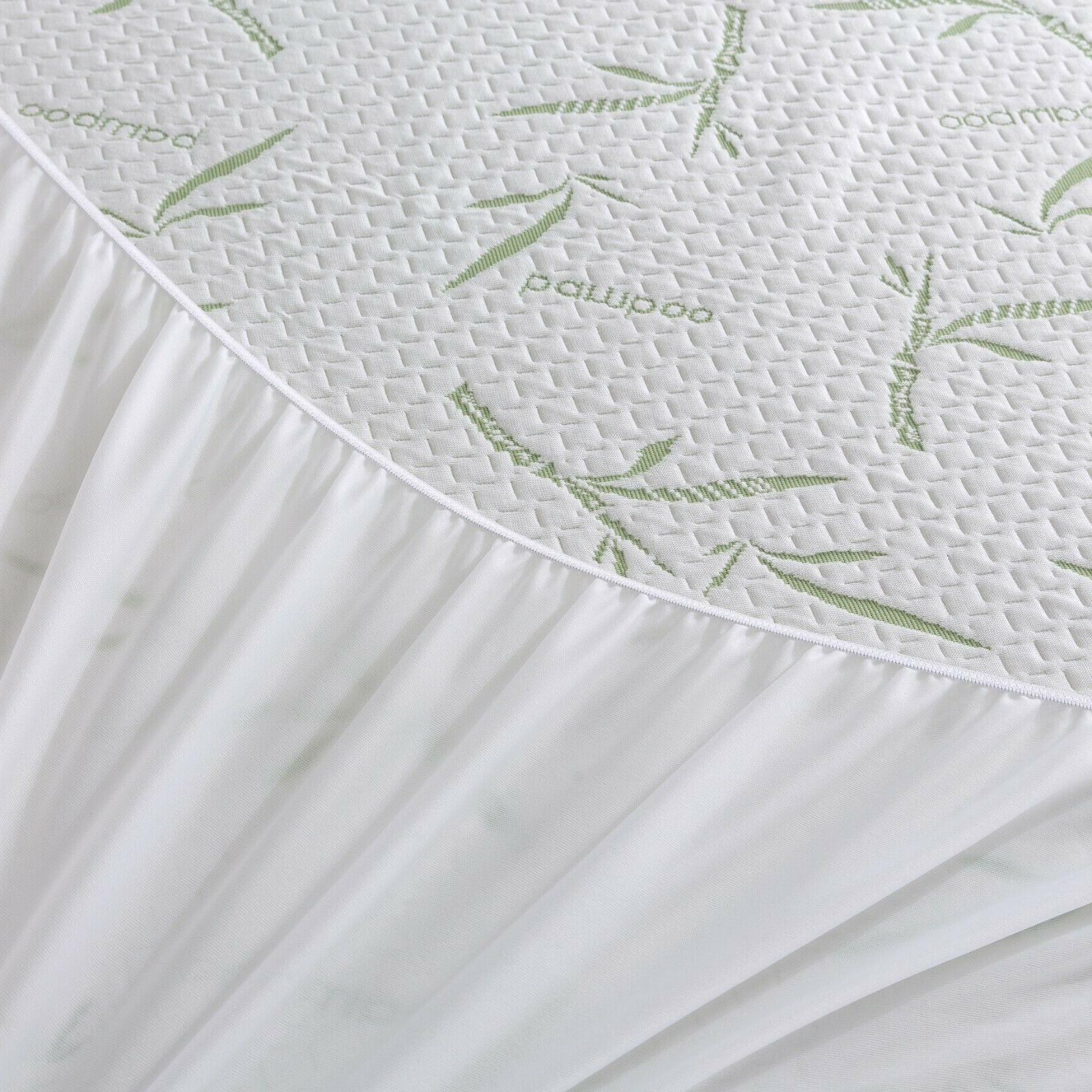 Waterproof Bamboo Protector Quilted Bed Cover