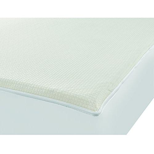 Degree Zip-Off Top, Balancing Plush Protection Against Bedbugs, and Ped Sized, White