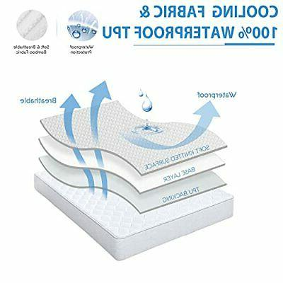 """Premium Mattress Protector with Smooth 3D 8""""- 21"""" Deep"""