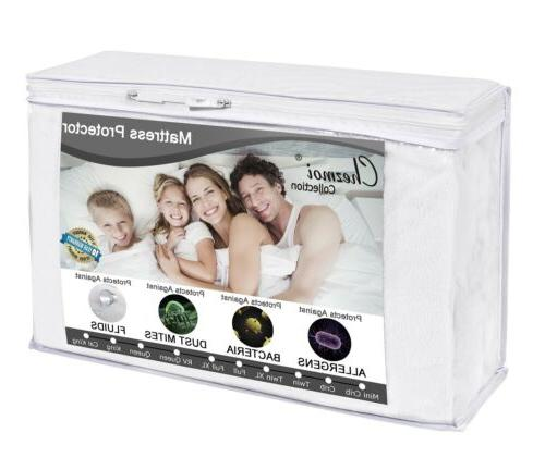 Cotton Terry Hypoallergenic Waterproof Mattress Protector Co
