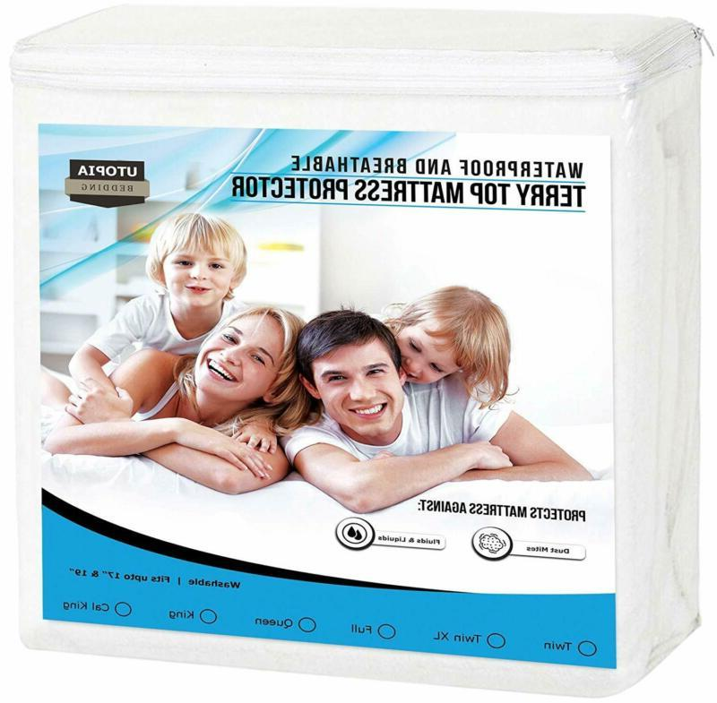 premium waterproof mattress protector breathable fitted matt