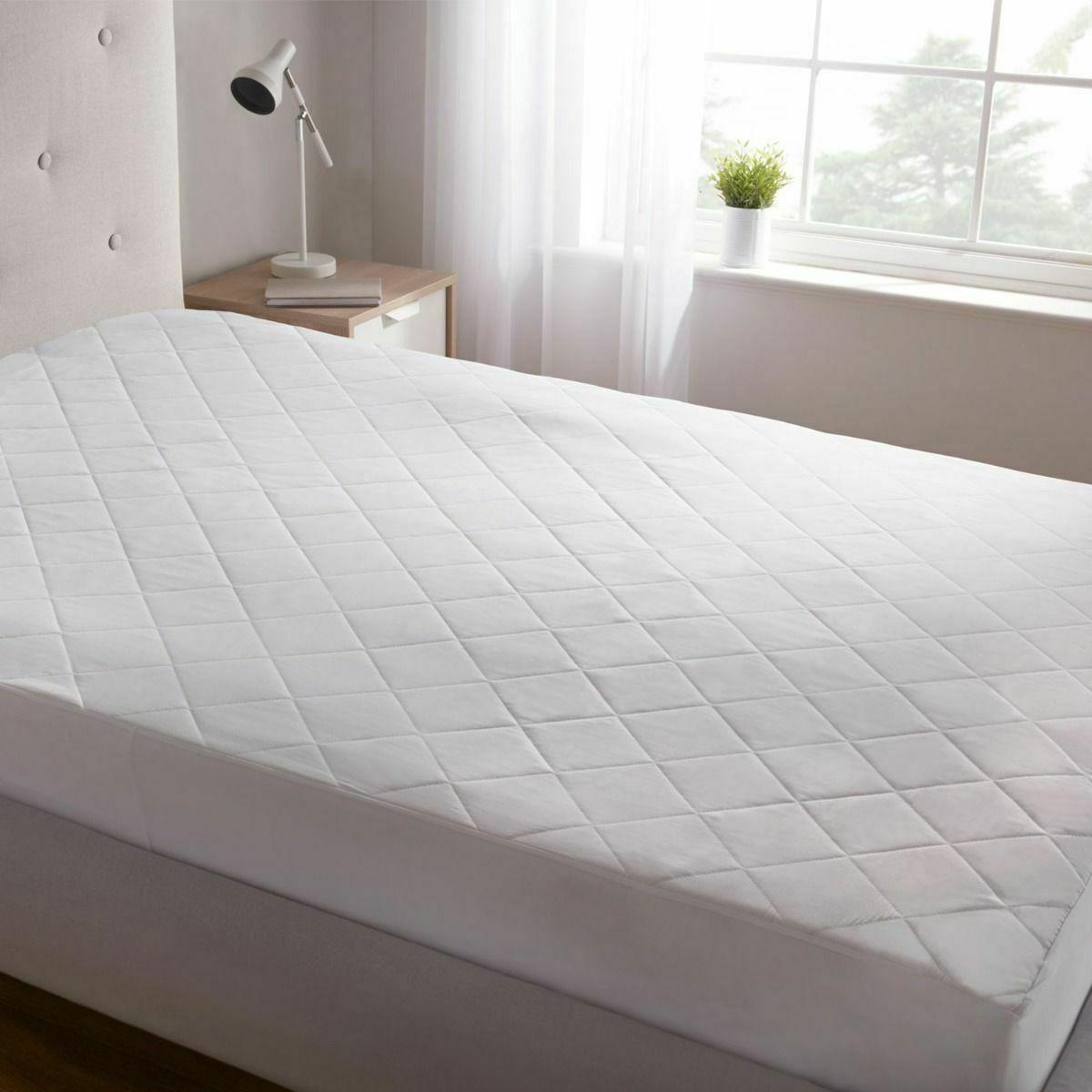 "King Size Quilted Mattress Protector Pad Topper Cover 16"" De"