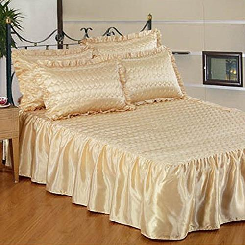 quilt quilted satin bedspread coverlet