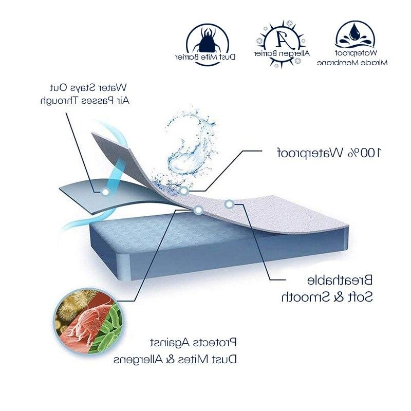Smooth Waterproof Cover For Bed White Wetting Breathable Protection <font><b>Pad</b></font> Cover