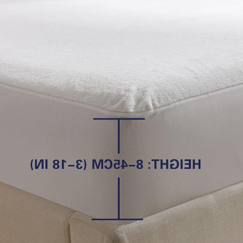 Smooth Cover For White Hypoallergenic Protection <font><b>Pad</b></font> Anti-mite