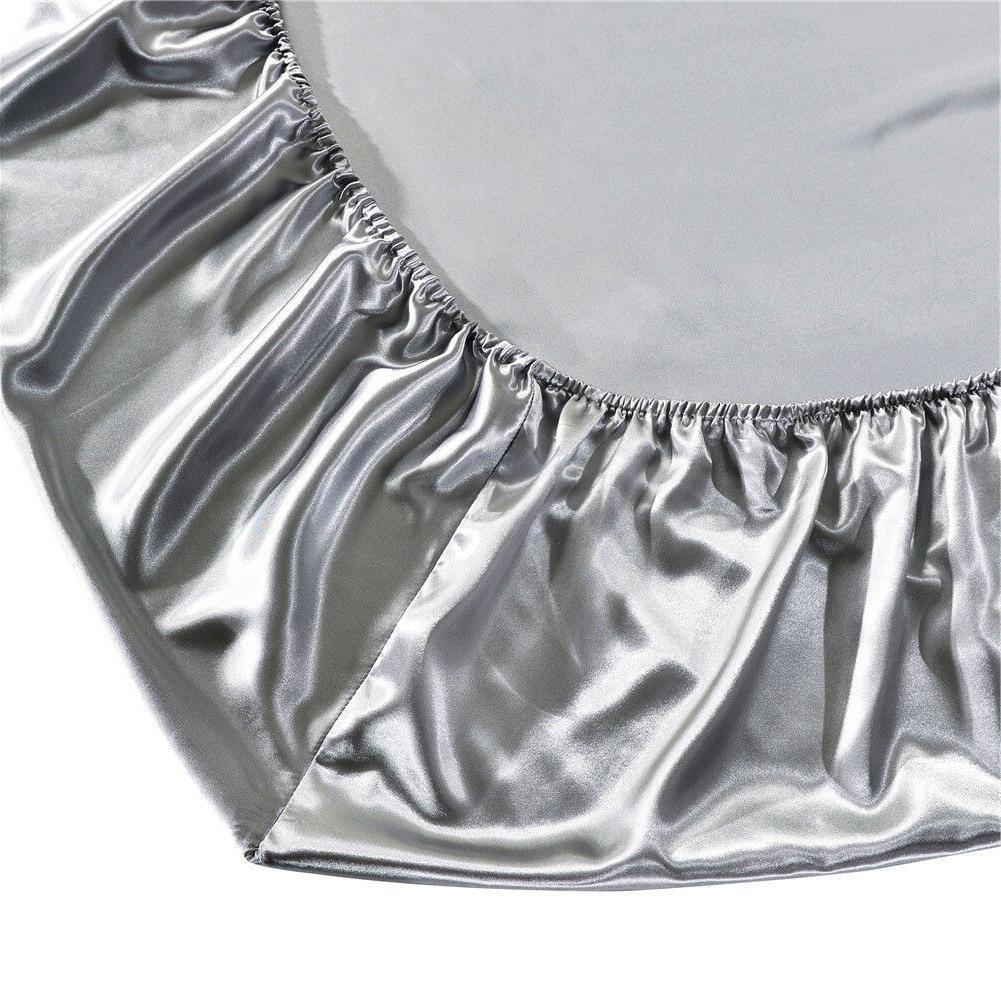 Solid Mattress Protector Cover Fitted Sheet Bug