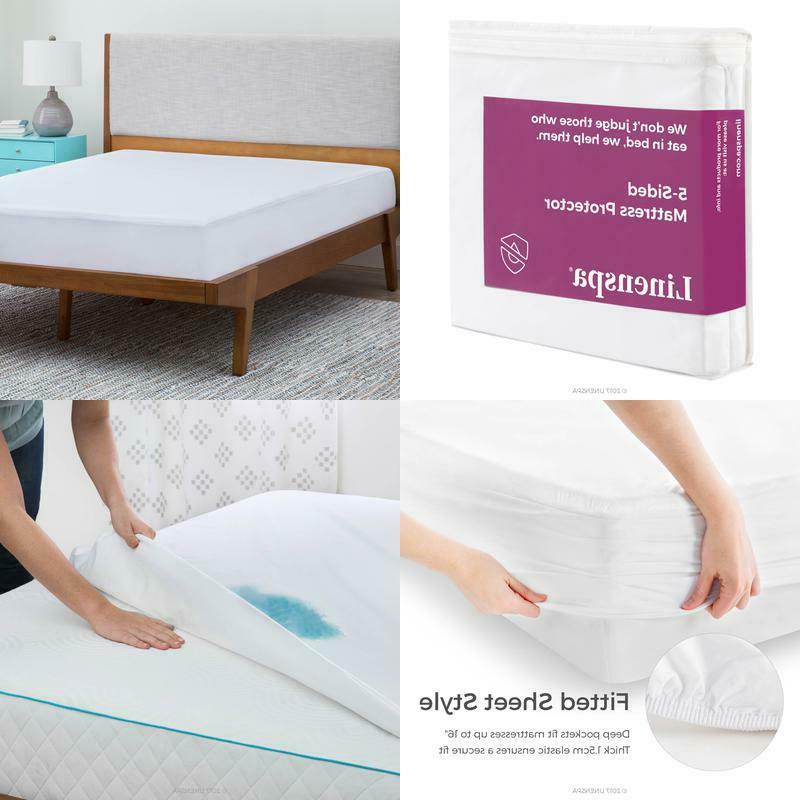 Twin Size Linenspa Five Sided Mattress Protector