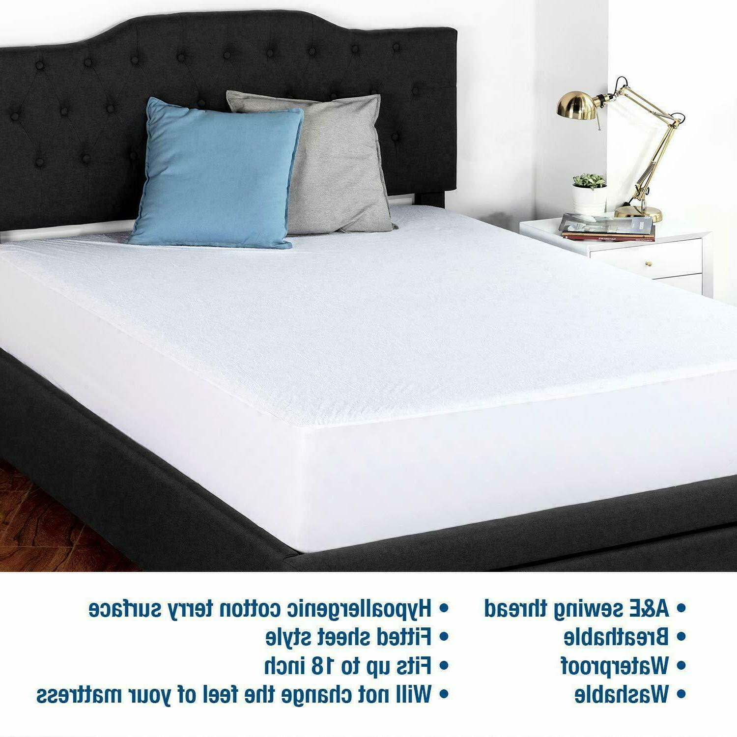 Twin XL Mattress Cover Protector Waterproof Pad Bed