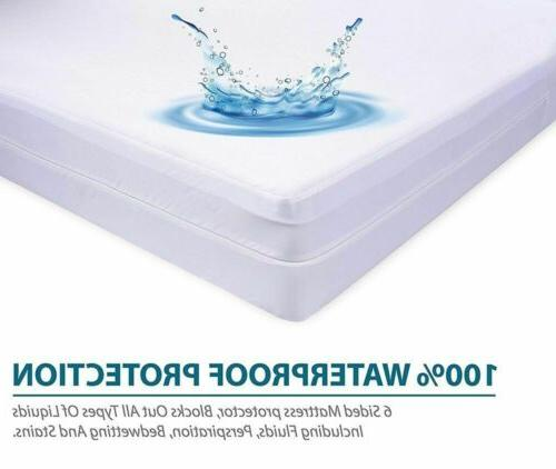 Waterproof Zippered Bed Dust & Allergens Cover