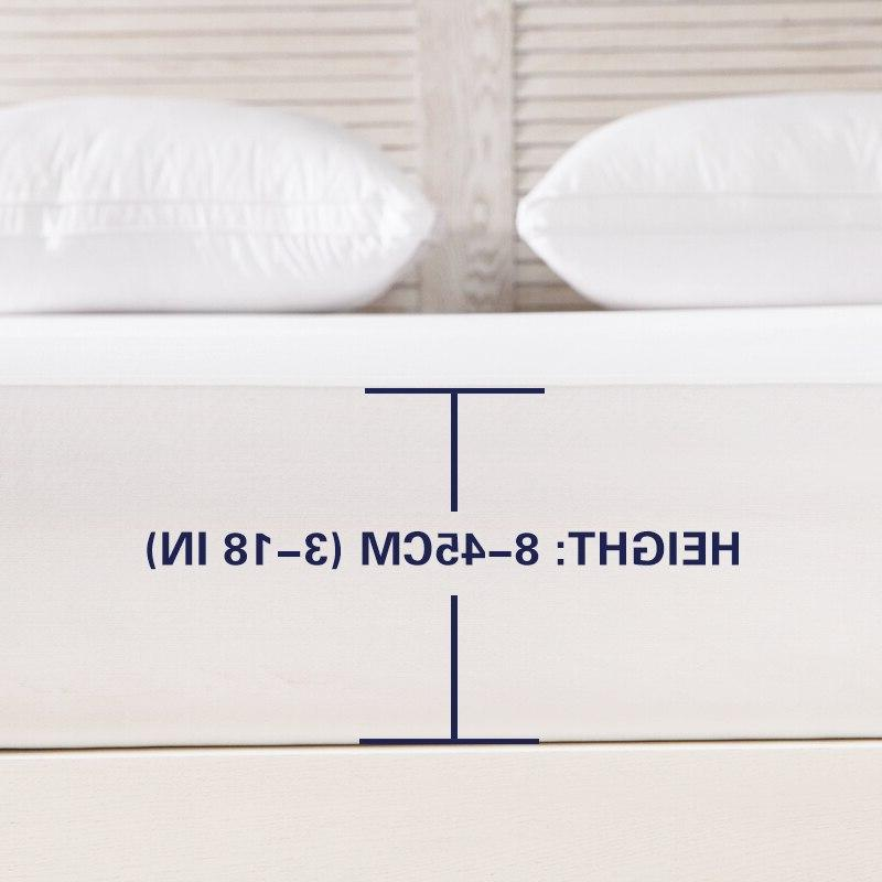 Waterproof <font><b>Mattress</b></font> <font><b>Protector</b></font> <font><b>Mattress</b></font> Hypoallergenic Smooth Fitted Sheet with Elastic Band