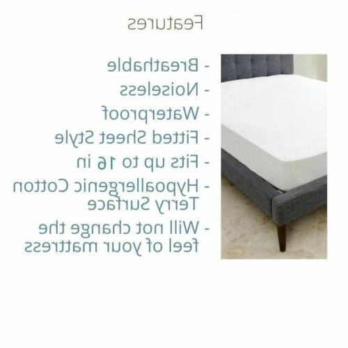 MATTRESS COVER Waterproof Pad Twin Full Queen King Bed