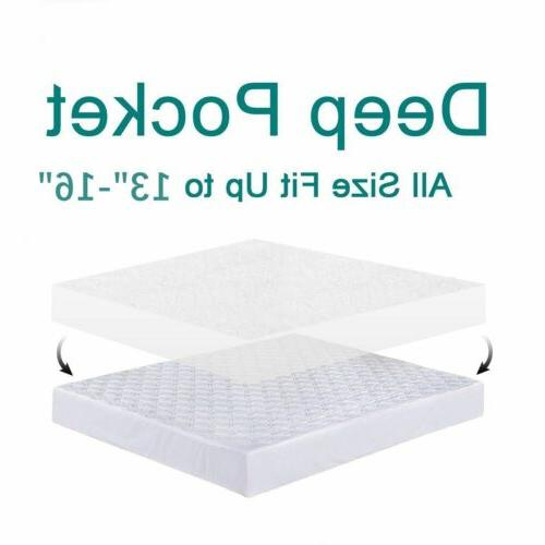 Mattress Cover Waterproof Pad Queen King Bed