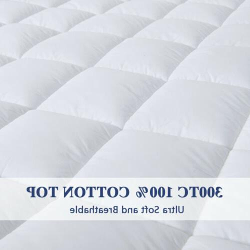 Waterproof Mattress Quilted Fitted Protector Cooling Cotton