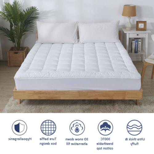 Waterproof Mattress Quilted Fitted Topper Cooling Cotton