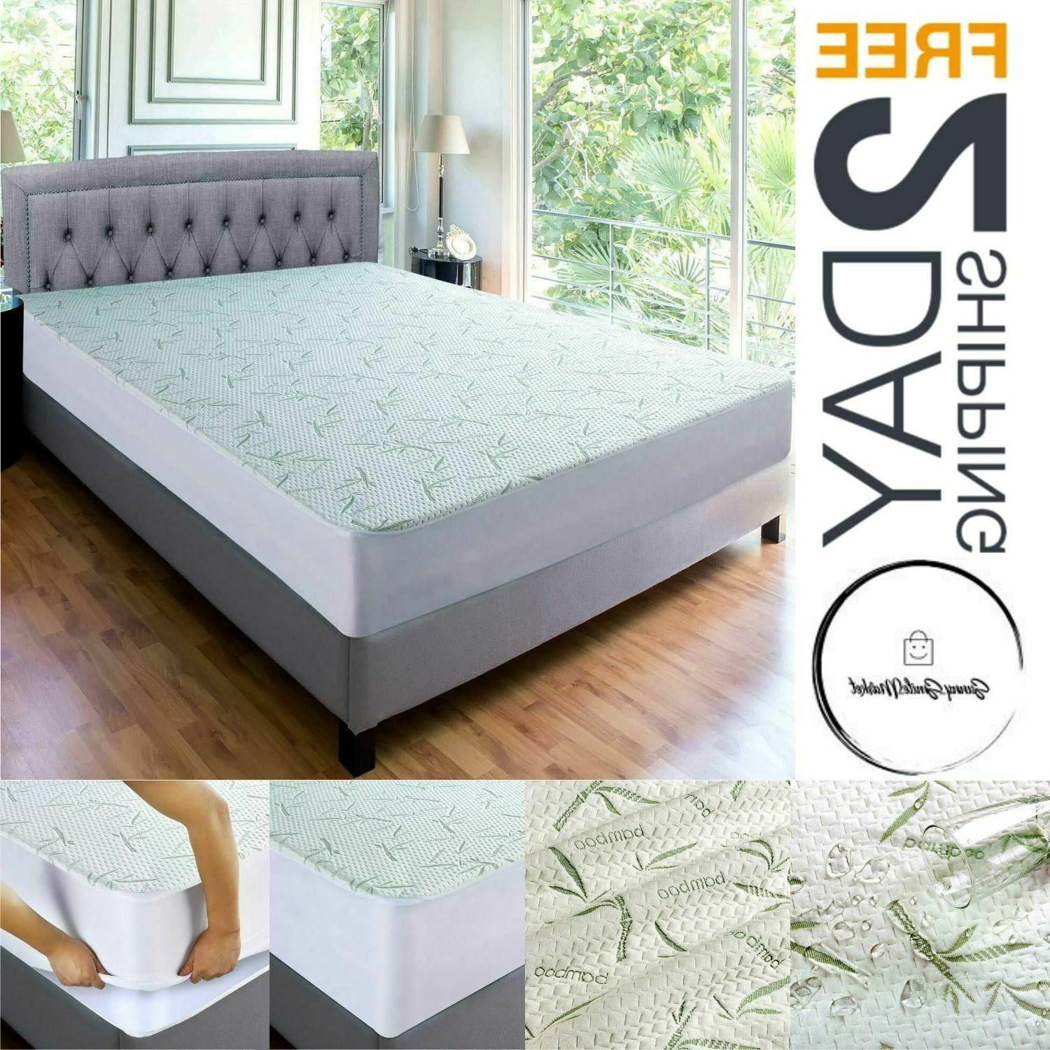 Waterproof Mattress Protector BAMBOO Soft Hypoallergenic Fit
