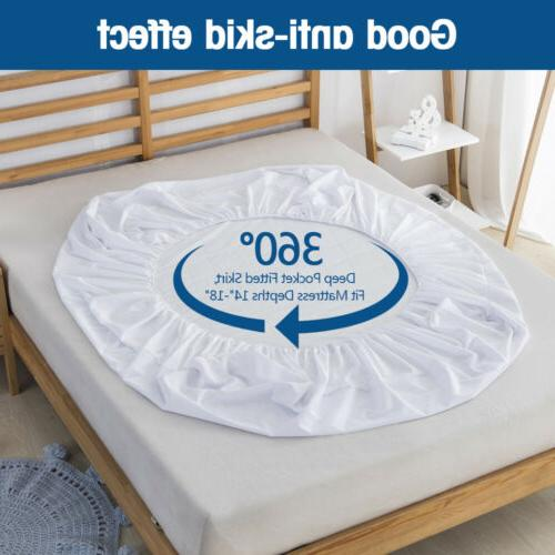 Waterproof Quilted Mattress Cover Pad Dust Mite